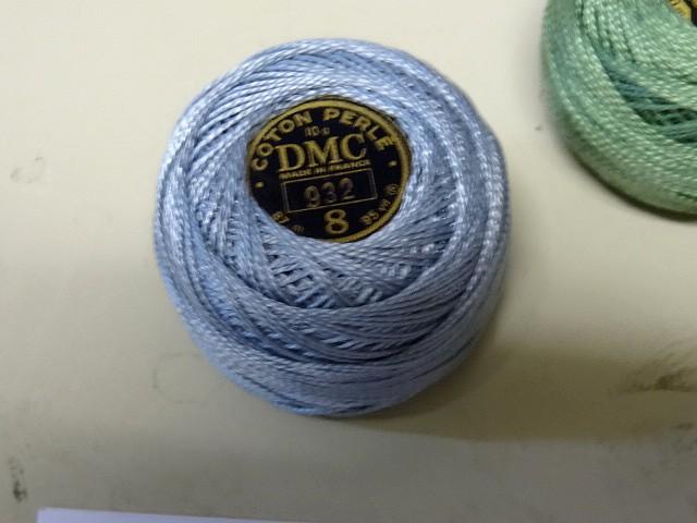 Fil coton perle dmc 932 bleu ciel