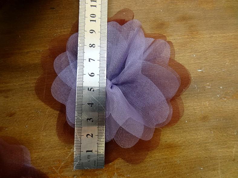 Fleur a coudre mousseline lie de vin orchidee 2