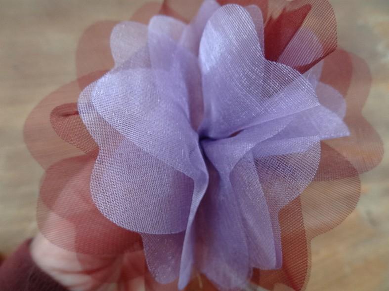 Fleur a coudre mousseline lie de vin orchidee 3