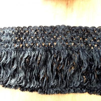 Frange base epi velours chenille noir 1