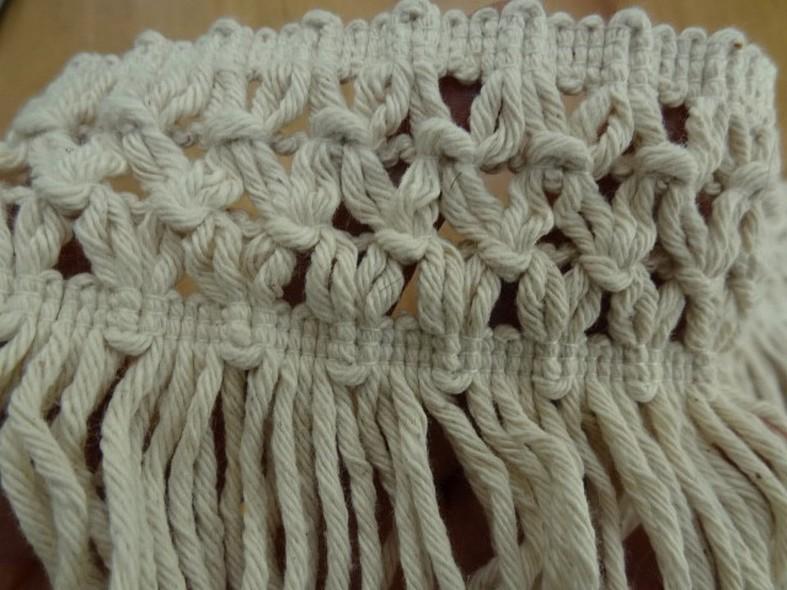 Frange coton ecru avec embase epis 3
