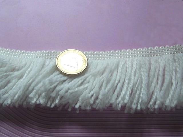 Frange de lainage acrylique blanche 2
