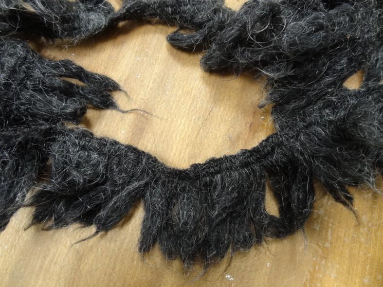 Frange elastique laine angora gris chine 1