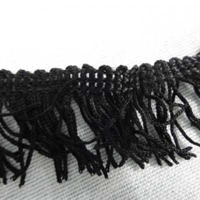 Frange en polyester noire