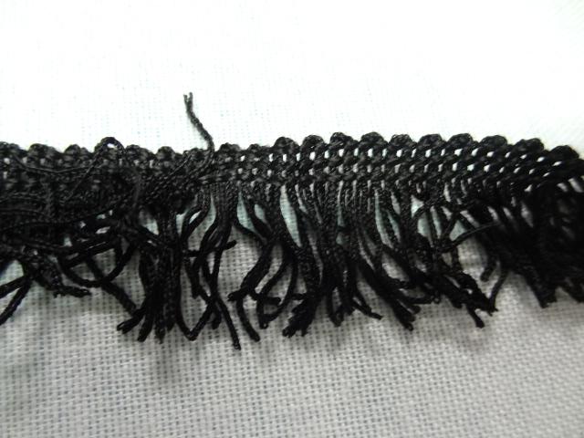 Frange en polyester noire38