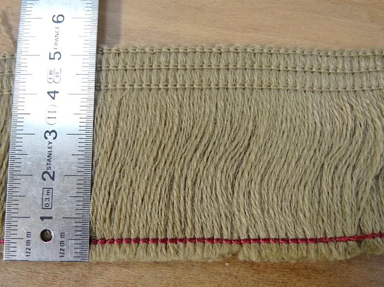Frange laine melangee teinte kraft 55 mm 2