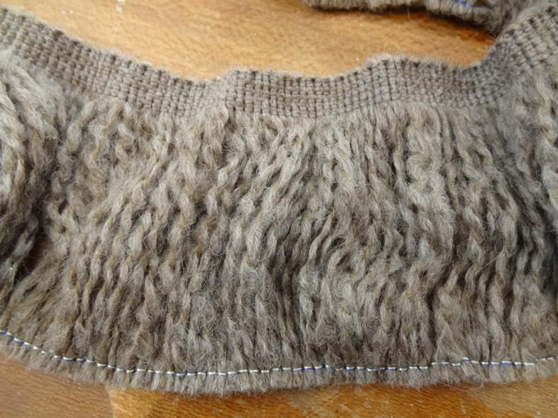 Frange laine sepia chine