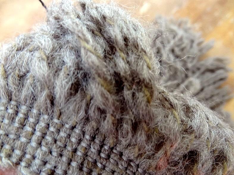 Frange laine sepia chine 3