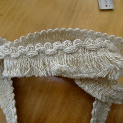 Frange lin coton melanges courte bord croquet 1
