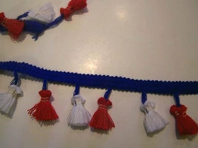 Frange pompons tricolore 1