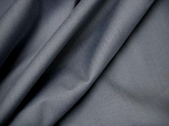 Gabardine coton lycra gris de payne 1