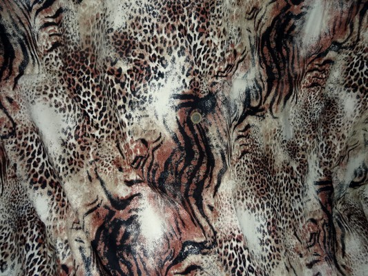 Gabardine coton lycra imprimé félins