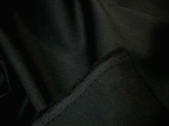 Gabardine coton lycra noire0