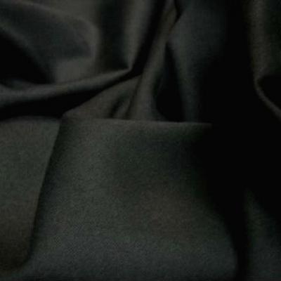 Gabardine coton lycra noire1