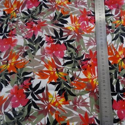 Gabardine coton lycra palmiers 01