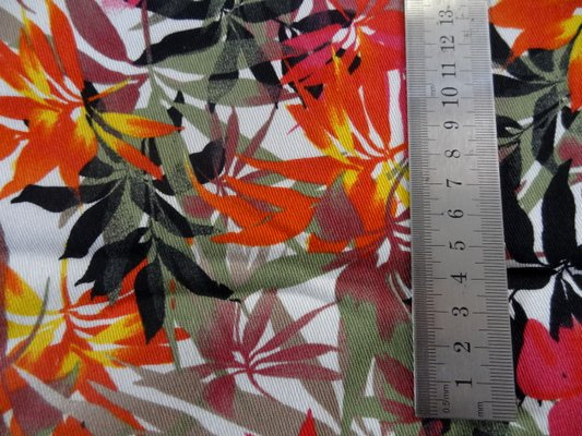 Gabardine coton lycra palmiers 02