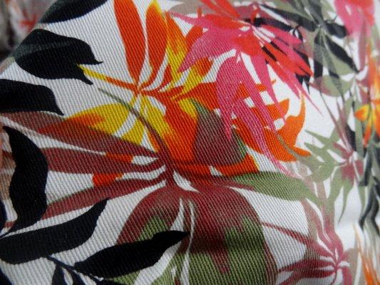 Gabardine coton lycra palmiers 03