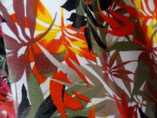 Gabardine coton lycra palmiers 04