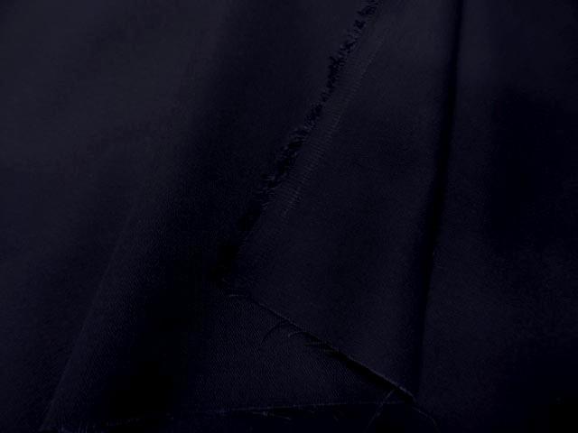 Gabardine coton melangee bleu nui 1