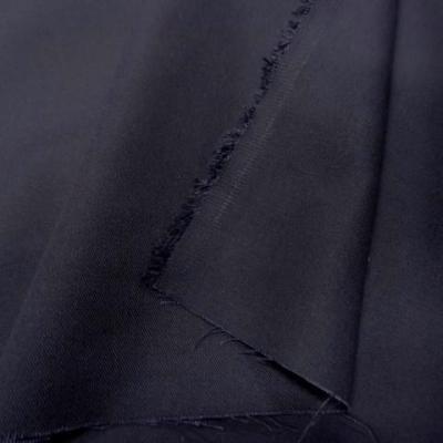Gabardine coton melangee gris anthacite 1