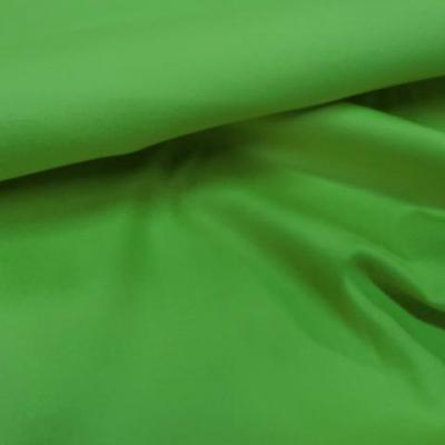 Gabardine lycra en coton vert anis