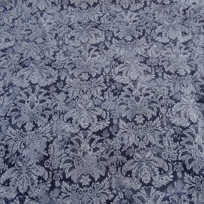 Gabardine motif classique fond bleu de prusse et guede 2