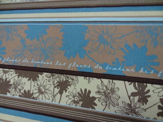 Gabardine rayee fleurie les fleurs du bonheur 1
