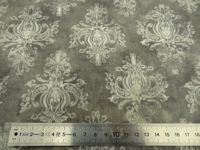 Gabardine taupe marbree motif baroque 2