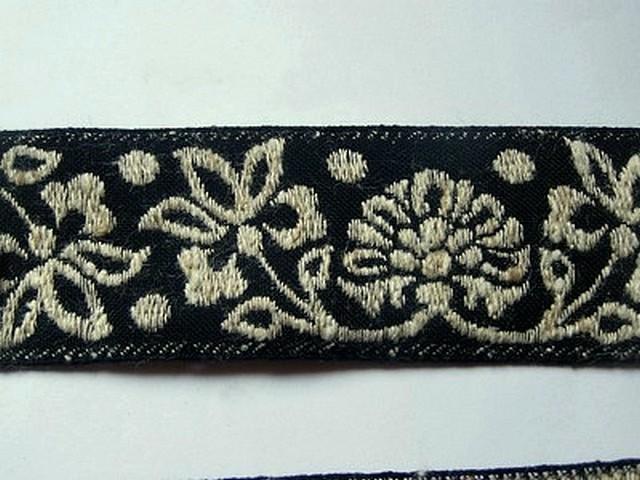 Galon albus coton melange noir et blanc creme 2