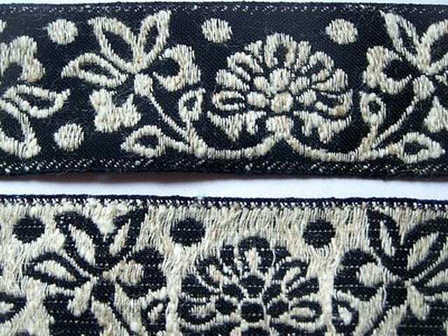 Galon albus coton melange noir et blanc creme 4