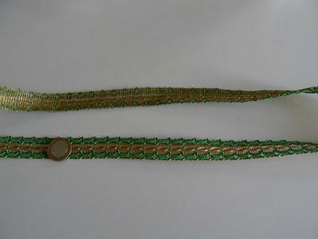 Galon ancien or et vert menthe 1
