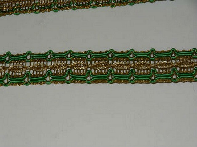 Galon ancien or et vert menthe 3