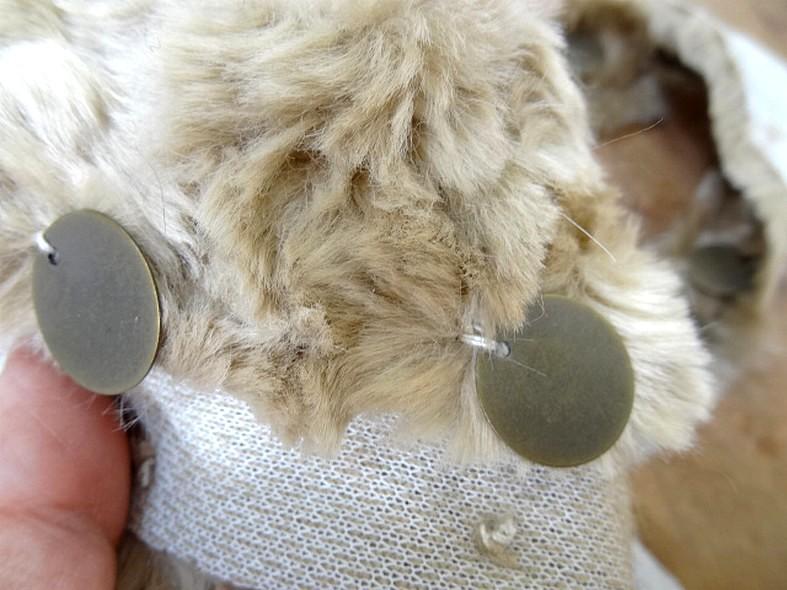 Galon beyla fausse fourrure vanille et sequins laiton vieilli 3