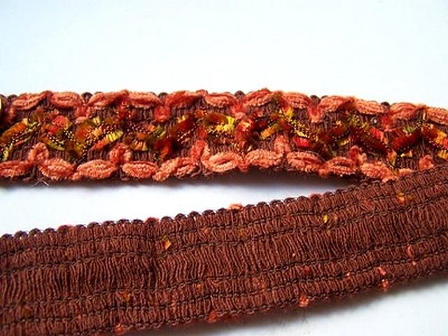 Galon colibri velours chenille corail 3