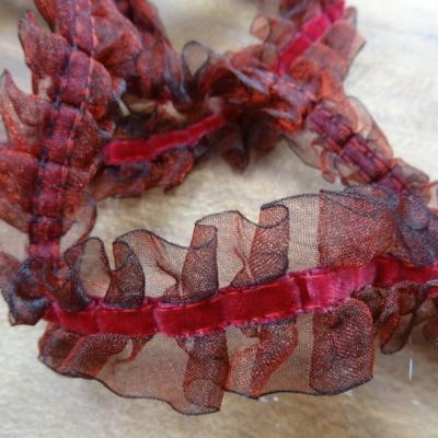 Galon d organza bouillonnant rouge griotte 1