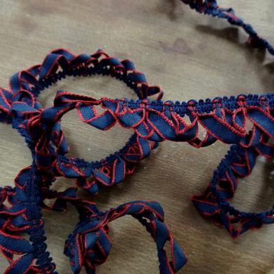 Galon elastique rubans boucles bleu marine
