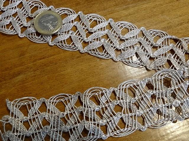 Galon elfique metal or blanc 1