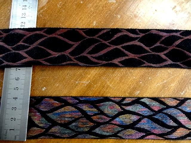 Galon noir feuillage multicolore 2