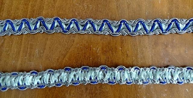 Galon rayonne zigzag gris bleu 1 1