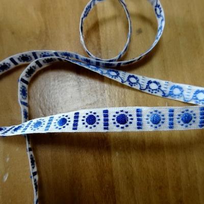 Galon ruban blanc brode bleu degrade 2