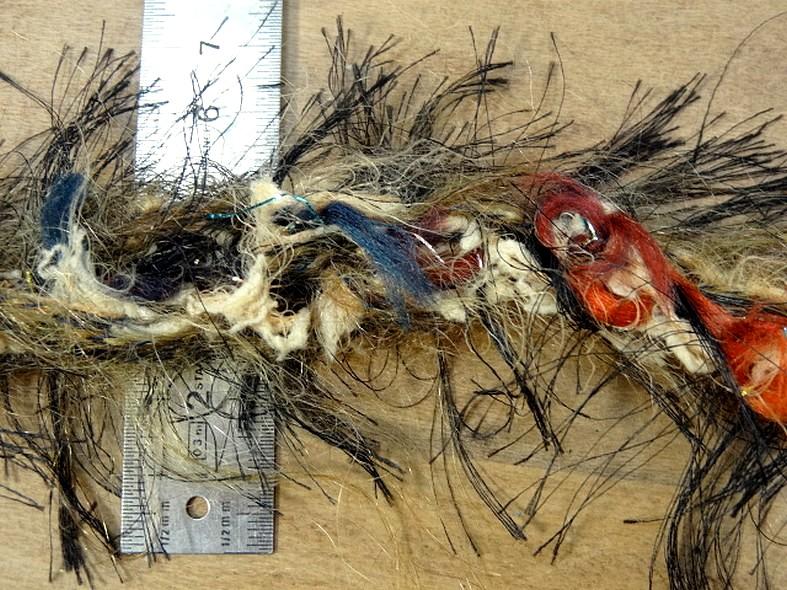 Galon tresse plumes filantes brun bleu canard feu 1