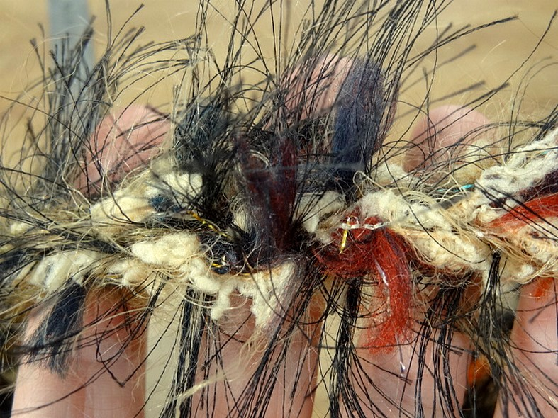 Galon tresse plumes filantes brun bleu canard feu
