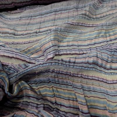 Gaze de soie rayures tissees pastel 4