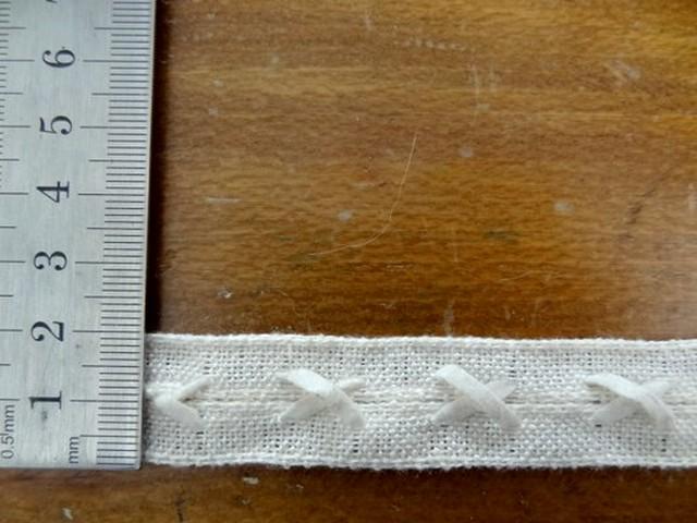 ruban coton lin croisillons 0