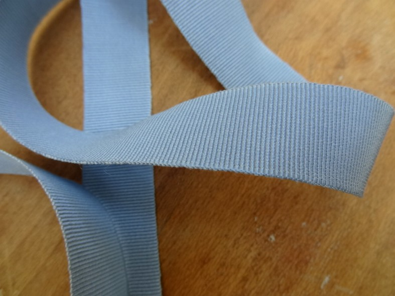 Gros grain bleu ciel 22 mm 1