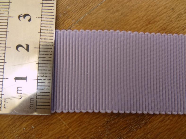 Gros grain parme 25 mm 2