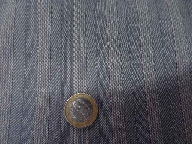 Jean bleu gris rayures et chevrons 1