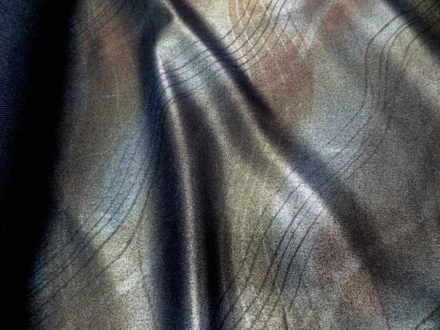 Jean lycra imprime dore metal0 1