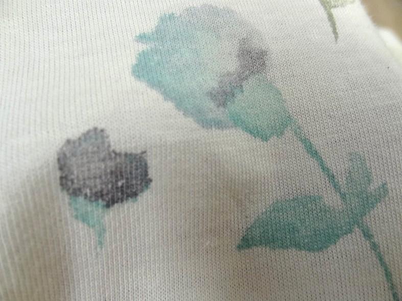 Jersey coton blanc casse fleurs en camaieu de bleus 4