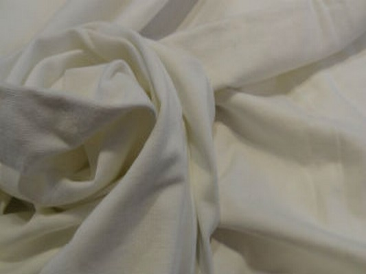 Jersey coton blanc cassé 04